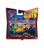 VEHICULE CARS 2 ACTION AGENTS FRANCESCO BERNOULLI + PROPULSEUR - VOITURE MINIATURE - MATTEL - V3021