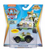 VEHICULE EN METAL PAT PATROUILLE : TRACKER ET SA JEEP - VOITURE MINIATURE MIGHTY PUPS SUPER PAWS - SPIN MASTER