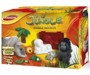 COFFRET JUNGLE DOUBLE ACTIVITE : MOULAGE ET PATE A SEL - JOUSTRA - 41102