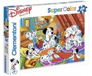 PUZZLE SUPER COLOR DISNEY 101 DALMATIENS - 104 PIECES - CHIEN - CLEMENTONI - 27478