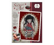 SEQUIN ART GORJUSS RUBY 25 x 34 CM - SANTORO - KIT CREATIF PAILLETTES
