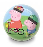 BALLON EN PLASTIQUE PEPPA PIG A VELO / EN FAMILLE 23 CM  - MONDO - JEU PLEIN AIR