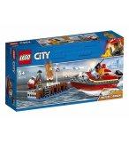 LEGO CITY 60213 L'INCENDIE SUR LE QUAI
