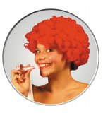 PERRUQUE POP AFRO ROUGE COURTE BOUCLEE ADULTE - SOIREE DISCO, CARNAVAL