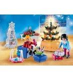 PLAYMOBIL CHRISTMAS 9495 FAMILLE ET SALON DE NOEL