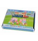 PUZZLE 12 CUBES EN BOIS PEPPA PIG 6 IMAGES - EICHHORN - ENCASTREMENT ENFANT