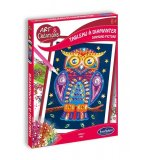 TABLEAU A DIAMANTER HIBOU - BRODERIE DIAMANT - SENTOSPHERE - ART & CREATION - 3256