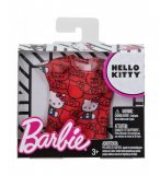MATTEL - FLP41 - BARBIE - ACCESSOIRE POUPEE - T-SHIRT ROUGE HELLO KITTY - TENUE - HABIT