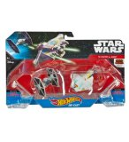 PACK DE 2 VAISSEAUX STAR WARS TIE FIGHTER ET GHOST 6.5CM - HOT WHEELS - MATTEL - DLP58