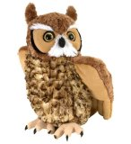 PELUCHE GRAND DUC D'AMERIQUE 30 CM - CUDDLEKINS - WILD REPUBLIC - 12310