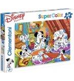 PUZZLE SUPER COLOR DISNEY 101 DALMATIENS - 104 PIECES - CHIEN - CLEMENTONI - 27478