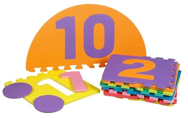 tapis puzzle mousse 10 dalles chiffres jeu de marelle. Black Bedroom Furniture Sets. Home Design Ideas