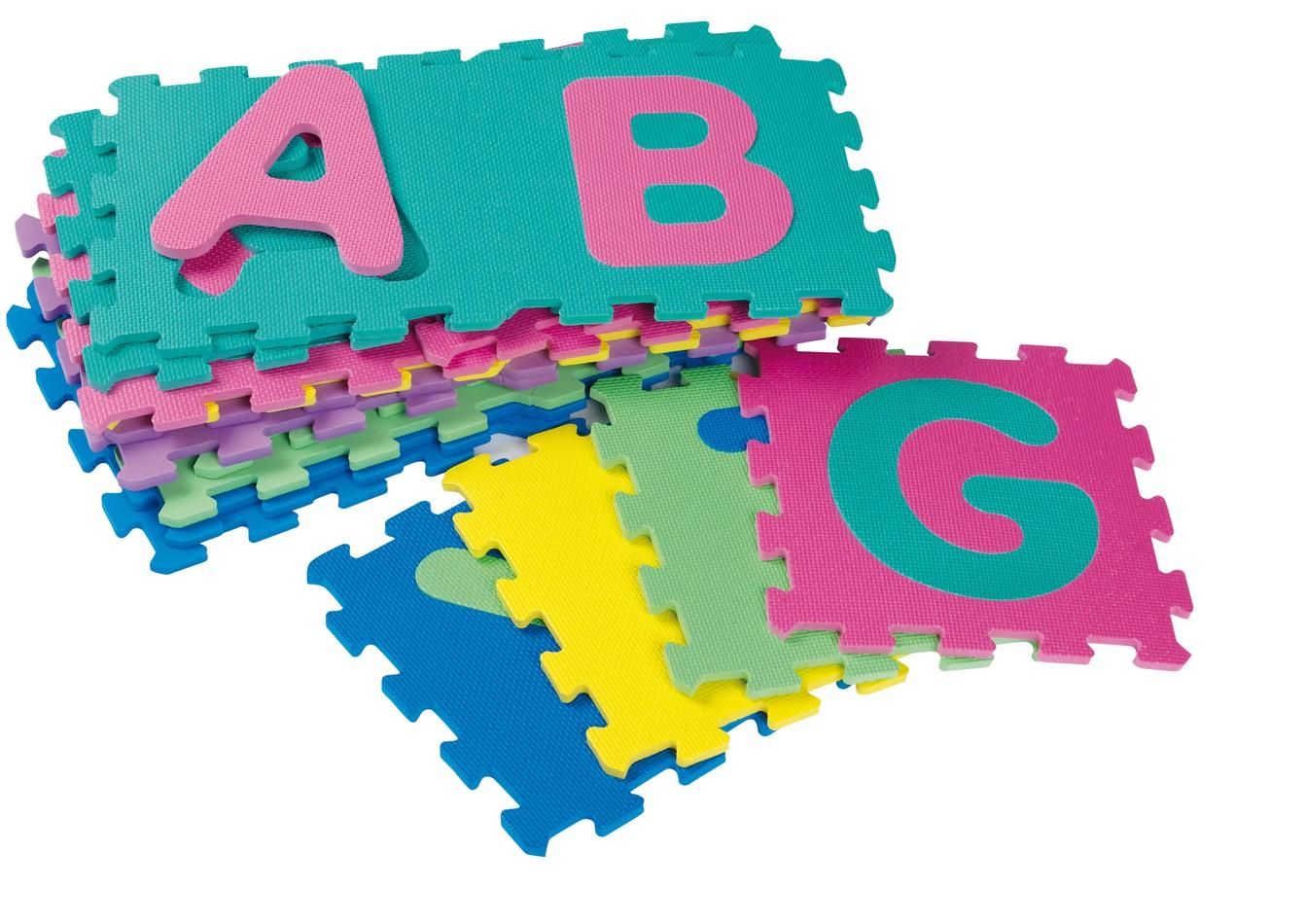 jouet puzzle de sol tapis mousse enfant b b dalles alphabet abc. Black Bedroom Furniture Sets. Home Design Ideas