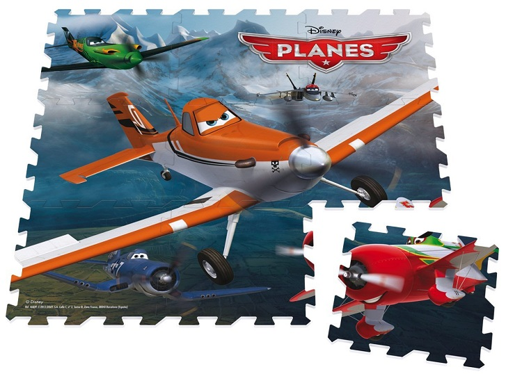 tapis puzzle g ant de sol en mousse disney planes 9 pcs. Black Bedroom Furniture Sets. Home Design Ideas