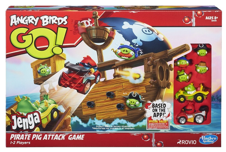 A l attaque du bateau pirate jeu soci t angry birds go - Angry birds noel ...