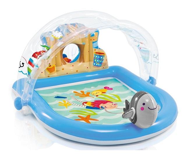 Intex piscine enfant avec aire de jeux eau beach party for Pelleteuse jouet exterieur