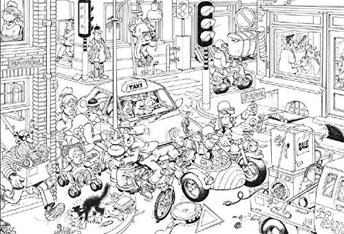 Livre coloriage adulte jan van haasteren dessin humour - Coloriages adultes ...