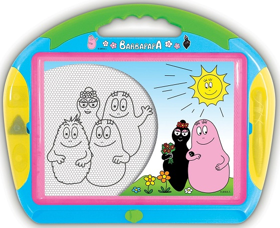 tableau magntique ou ardoise magique barbapapa clementoni jeu cratif dessin 62203. Black Bedroom Furniture Sets. Home Design Ideas