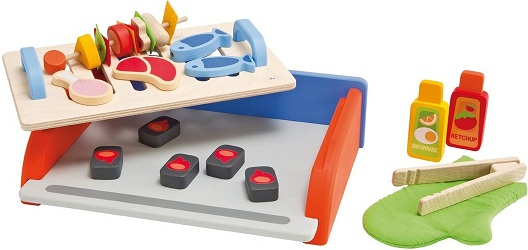 jouet barbecue en bois barbecue et accessoires enfant dnette barbecue en bois. Black Bedroom Furniture Sets. Home Design Ideas