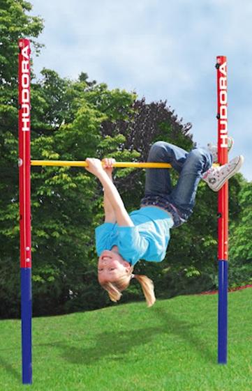Barre de gym pour jardin portique avec barre de traction for Barre fixe enfant