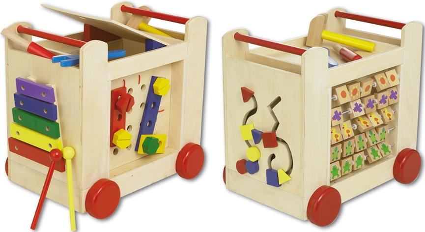 chariot dactivit s circuit de motricit jouet pousser. Black Bedroom Furniture Sets. Home Design Ideas