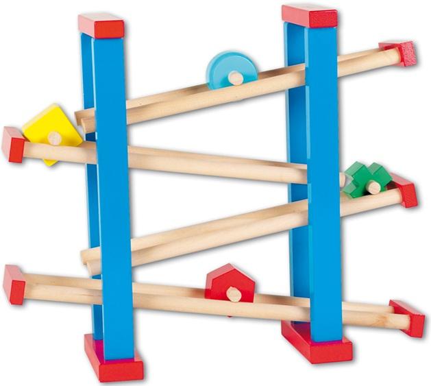 Toboggan billes circuit de billes jeu en bois for Pelleteuse jouet exterieur