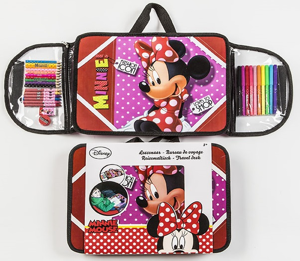 mon pupitre portable minnie avec accessoires coloriage disney. Black Bedroom Furniture Sets. Home Design Ideas