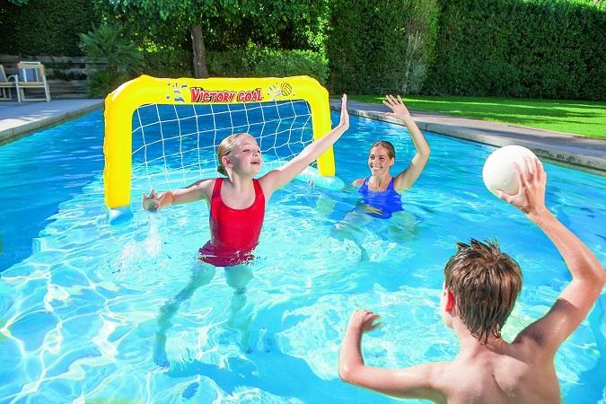 jeu de water polo gonflable bestway cage ballon. Black Bedroom Furniture Sets. Home Design Ideas