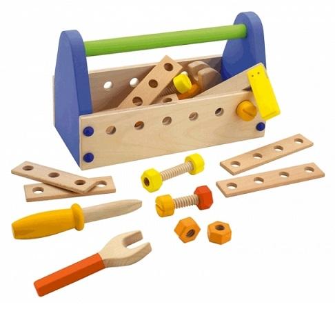 Boite outils en bois enfant jeu bricolage sevi 82081 - Caisse a outils enfant ...