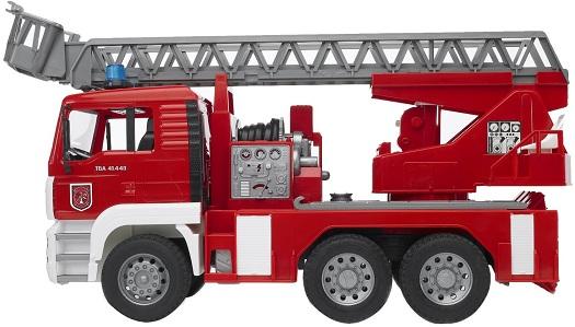 jouet camion grande chelle vhicule de pompier bruder camion de pompier sonore. Black Bedroom Furniture Sets. Home Design Ideas