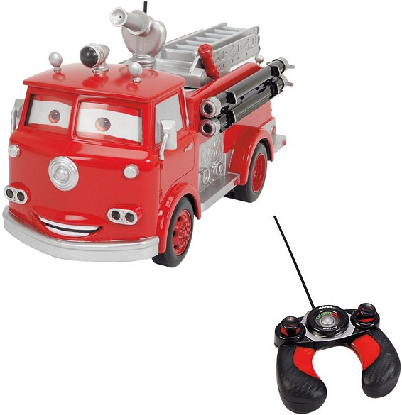 jouet camion de pompier cars radiocommand disney rc red dickie. Black Bedroom Furniture Sets. Home Design Ideas