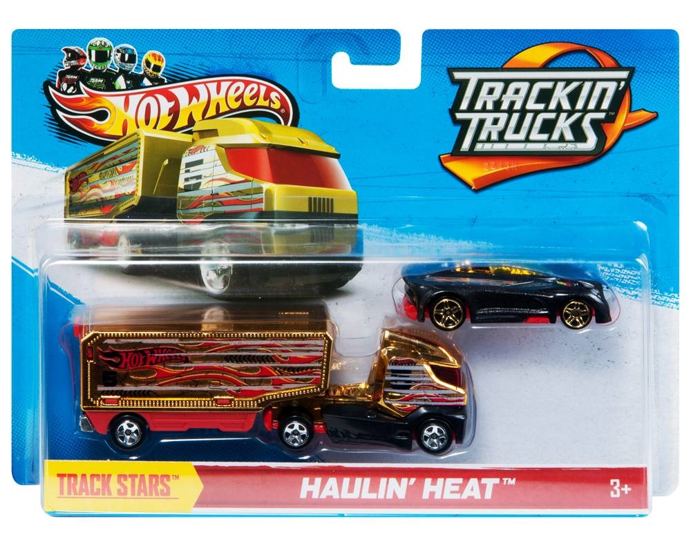 camion or et rouge haulin heat voiture hot wheels track stars