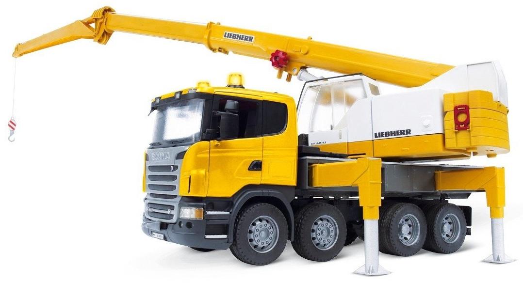 camion scania r s rie grue liebherr module son lumi re bruder. Black Bedroom Furniture Sets. Home Design Ideas