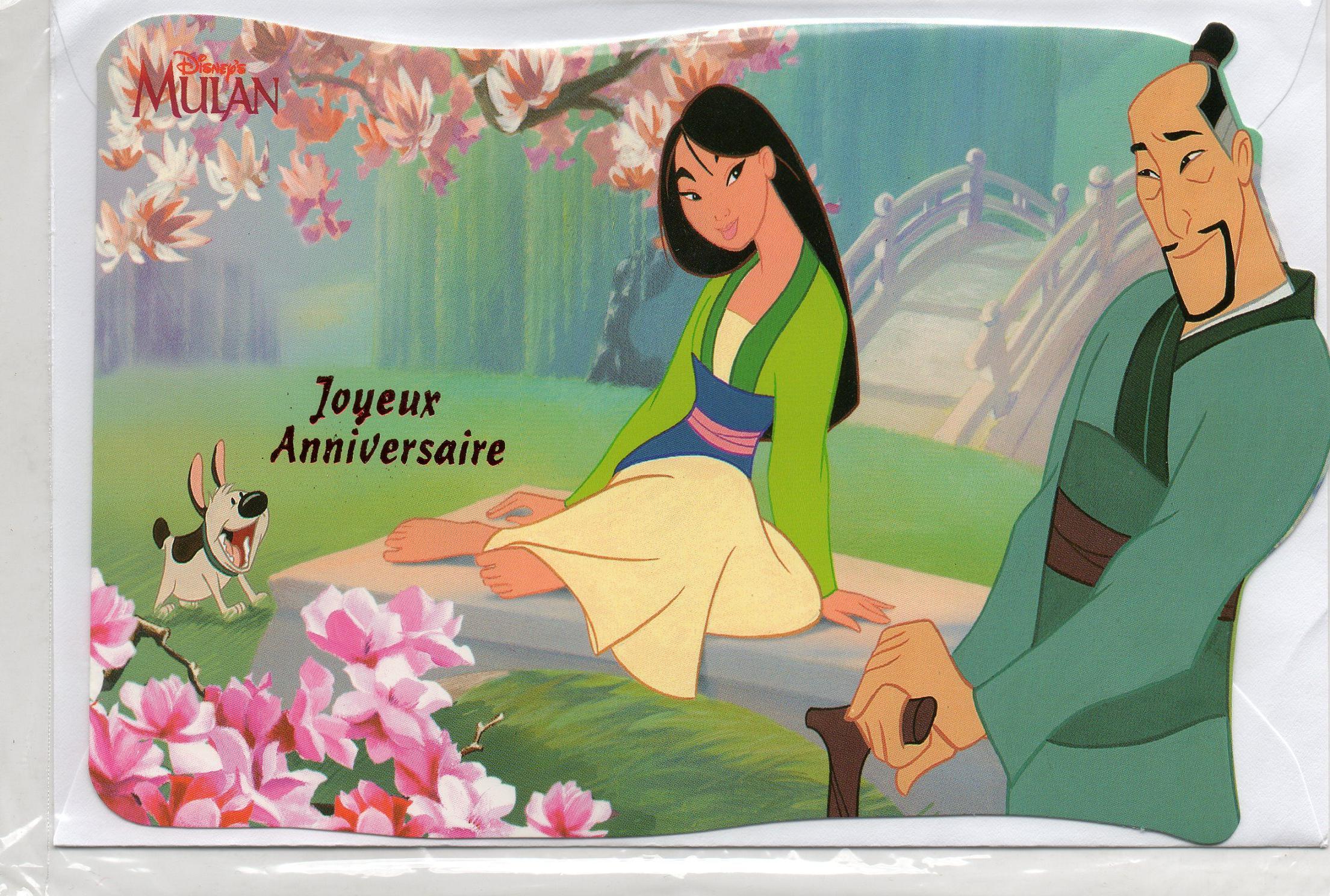 Carte D Anniversaire Disney Mulan Cavernedesjouets