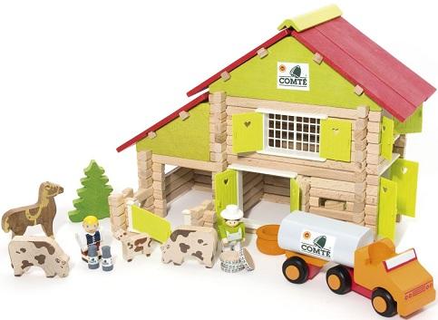 Jouet ferme animaux camion chalet comt jeujura for Pelleteuse jouet exterieur