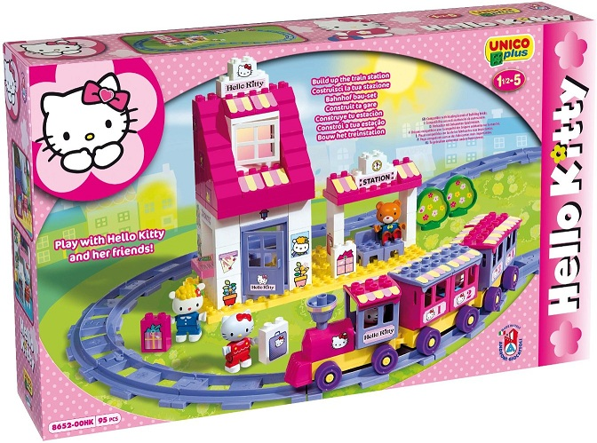 hello kitty train hello kitty briques construction. Black Bedroom Furniture Sets. Home Design Ideas