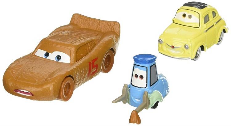 Mattel Cars Mcqueenamp; Avec Flash Luigi Guido Voiture Miniature Dxw00 kXZuPi