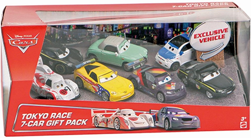 coffret tokyo race 7 car gift pack cars bhm04 de mattel. Black Bedroom Furniture Sets. Home Design Ideas