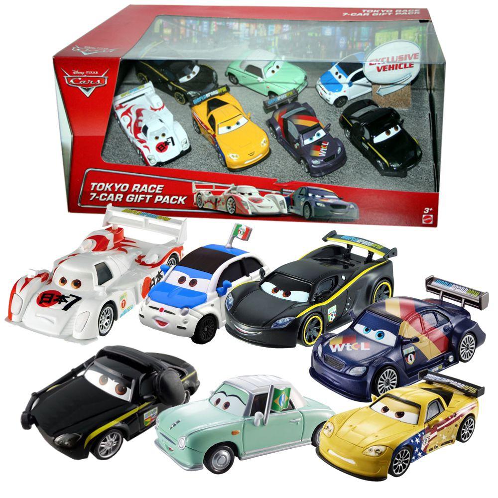 coffret tokyo race 7 car gift pack cars bhm04 de mattel. Black Bedroom Furniture Sets. Home Design Ideas