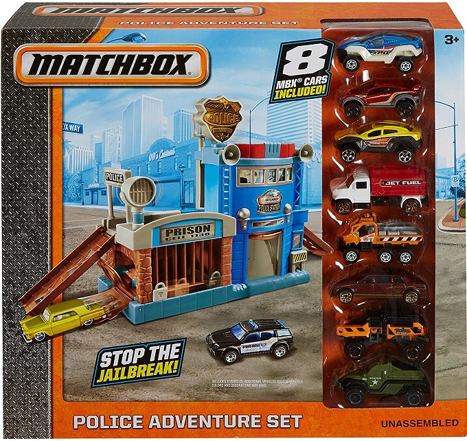 Police Véhicule Matchbox Mattel Dyy24 Set8 Adventure Voitures deCBxro
