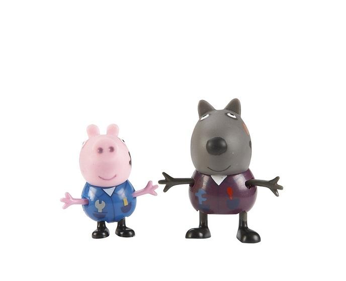 Coffret 2 figurines peppa pig danny dog et cochon georges - Jeux de papa pig ...