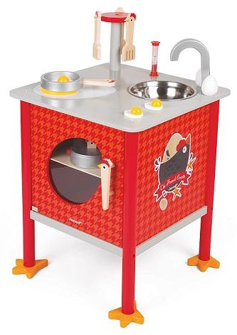 cuisine ilot en bois french cocotte janod au meilleur prix. Black Bedroom Furniture Sets. Home Design Ideas