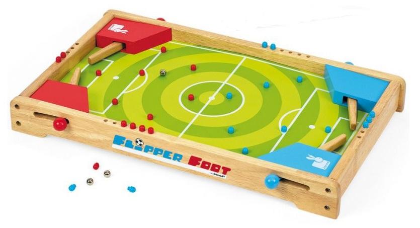 jeu en bois flipper foot janod caverne des jouets. Black Bedroom Furniture Sets. Home Design Ideas