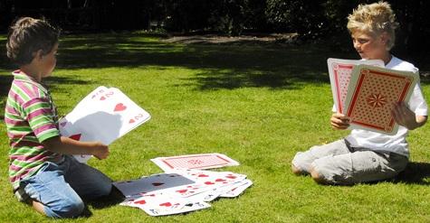 Jeu de cartes g antes jeu de plein air g ant jeu de cartes grand format - Jeux de plein air adulte ...