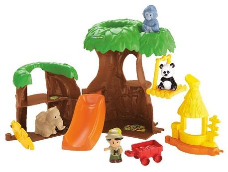 Larbre maison des animaux little people jeux jouets for Arbre maison jouet