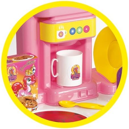 cuisine en plastique rose pour enfant jeu d imitation filly princesse smoby 024653. Black Bedroom Furniture Sets. Home Design Ideas