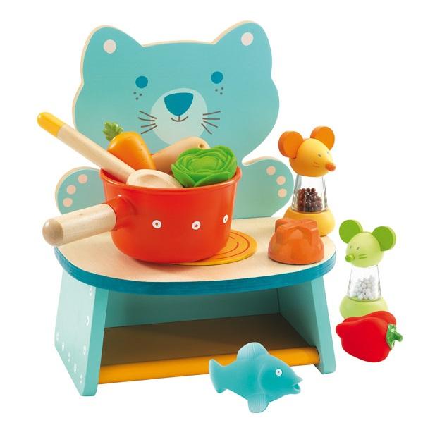 la cuisini re de f lix djeco jouet petite cuisine en bois. Black Bedroom Furniture Sets. Home Design Ideas