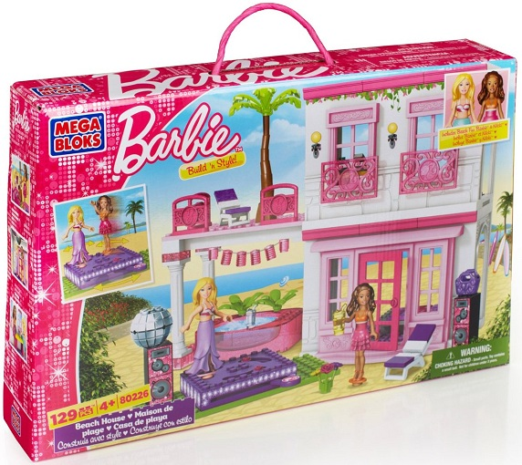 jeu de construction fille maison de plage barbie megabloks 4 ans. Black Bedroom Furniture Sets. Home Design Ideas