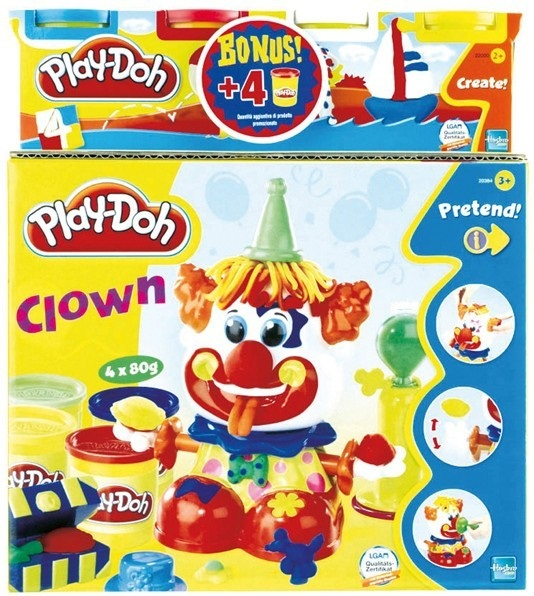 pte modeler jouet play doh coffret clown play doh play doh avec 4 pots de pte. Black Bedroom Furniture Sets. Home Design Ideas