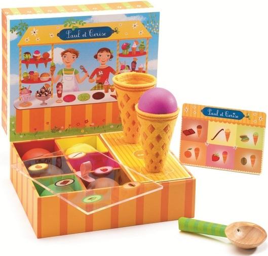 Jouet nourriture en bois achat jeu cornets de glaces en for Pelleteuse jouet exterieur